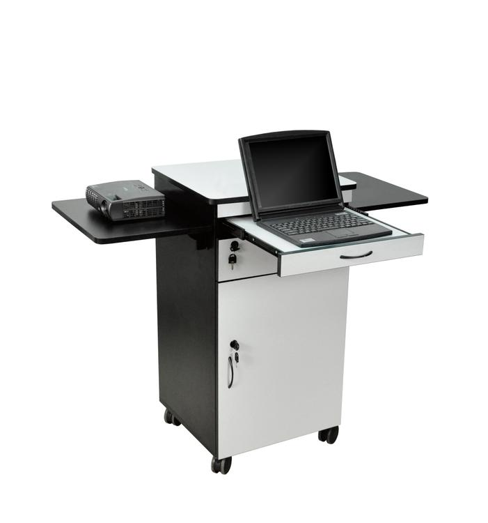 Luxor Wood Multimedia Workstation