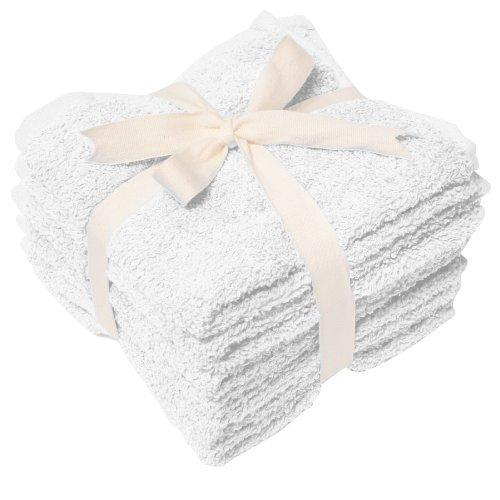 Heavy Weight Wash Cloth Set of 6, White - [ws1313white]