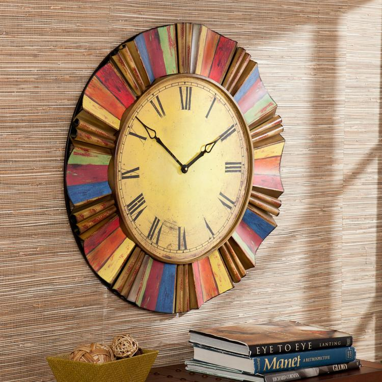 Southern Enterprises Multicolor Wall Clock
