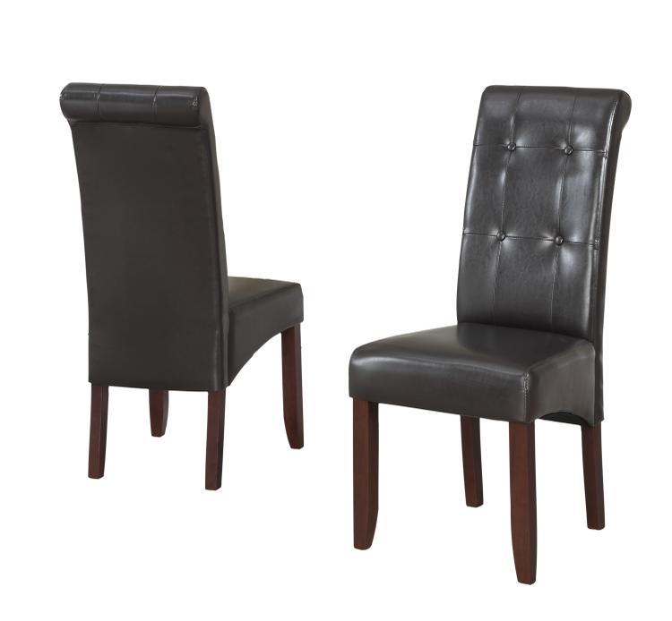 Simpli Home Cosmopolitan Deluxe Tufted Parson Chair