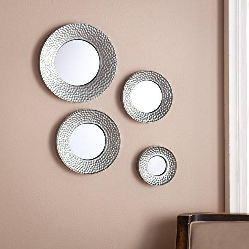 Silver Sphere Wall Mirror Set