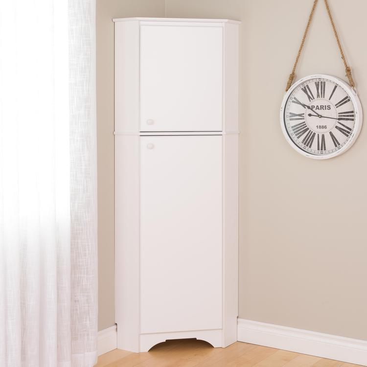 Elite Tall 2-Door Corner Storage Cabinet