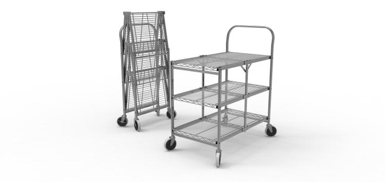 Luxor Collapsible Wire Utility Cart
