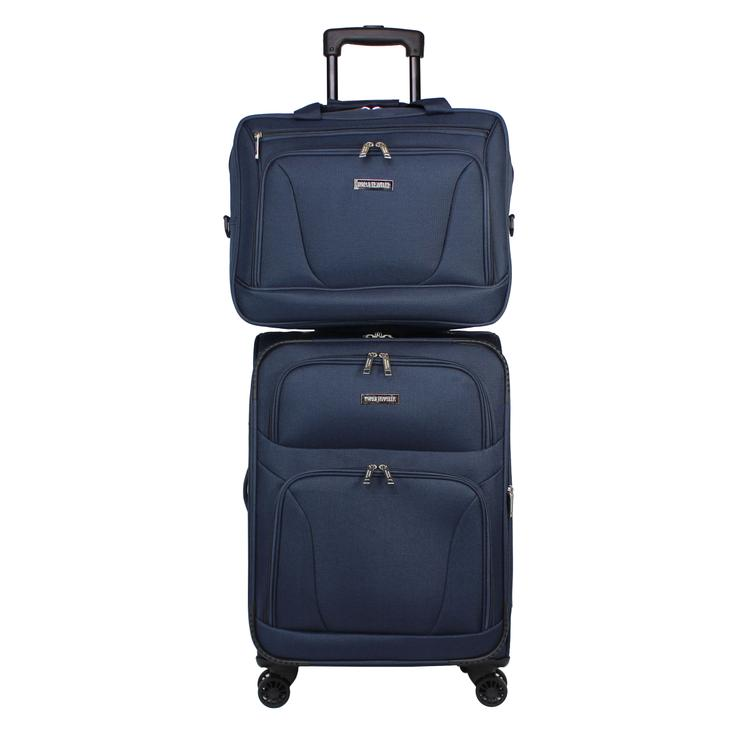 World Traveler Embarque Collection Lightweight 2-PC Carry-On Luggage Set - Navy