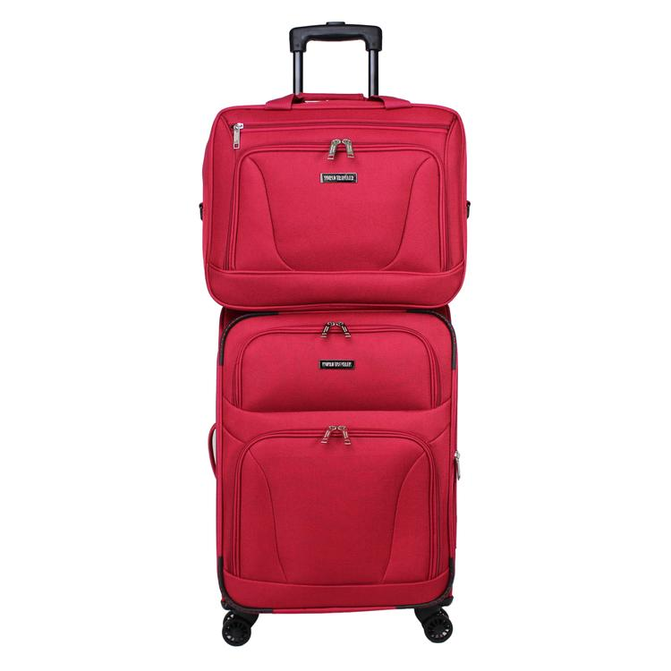 World Traveler Embarque Collection Lightweight 2-PC Carry-On Luggage Set - Red
