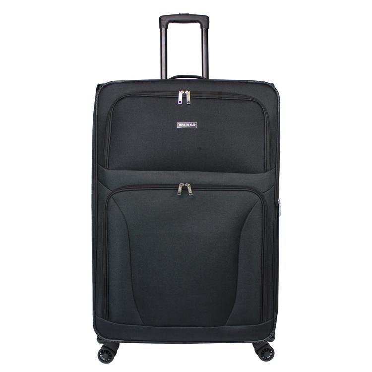 World Traveler Embarque Collection Lightweight 30-Inch Spinner Suitcase - Black