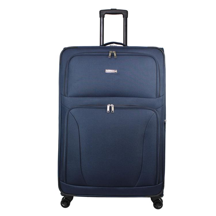 World Traveler Embarque Collection Lightweight 30-Inch Spinner Suitcase - Navy