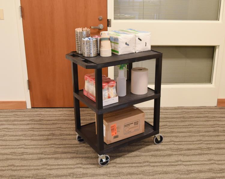 Luxor Tuffy Utility Cart - Three Shelves