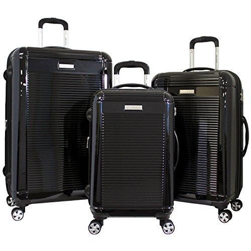 World Traveler Regal 3-piece Hardside Lightweight Spinner Luggage Set - Black