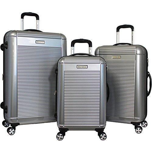 World Traveler Regal 3-piece Hardside Lightweight Spinner Luggage Set - Silver