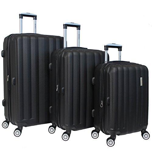 World Traveler Adventure 3-piece Hardside Spinner Luggage Set - Black