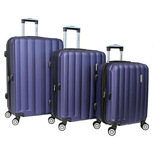 World Traveler Adventure 3-piece Hardside Spinner Luggage Set - Navy