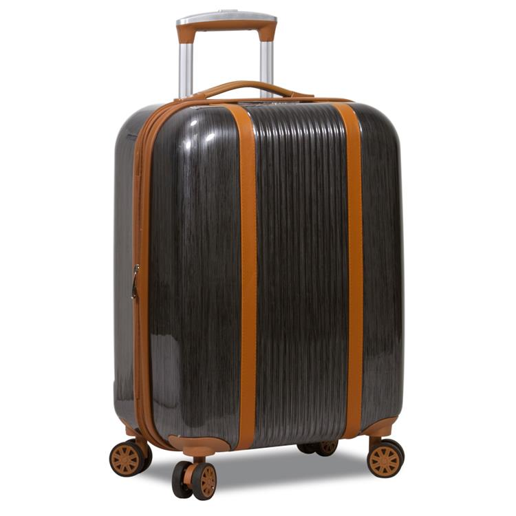 World Traveler Classique Hardside 20-Inch Carry-On Spinner Luggage - Black