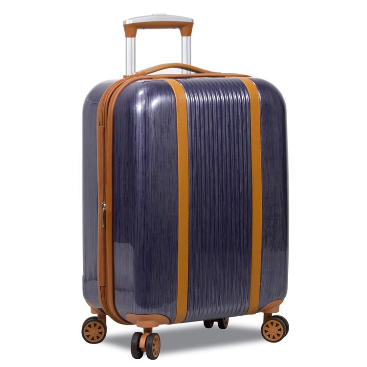 World Traveler Classique Hardside 20-Inch Carry-On Spinner Luggage - Blue
