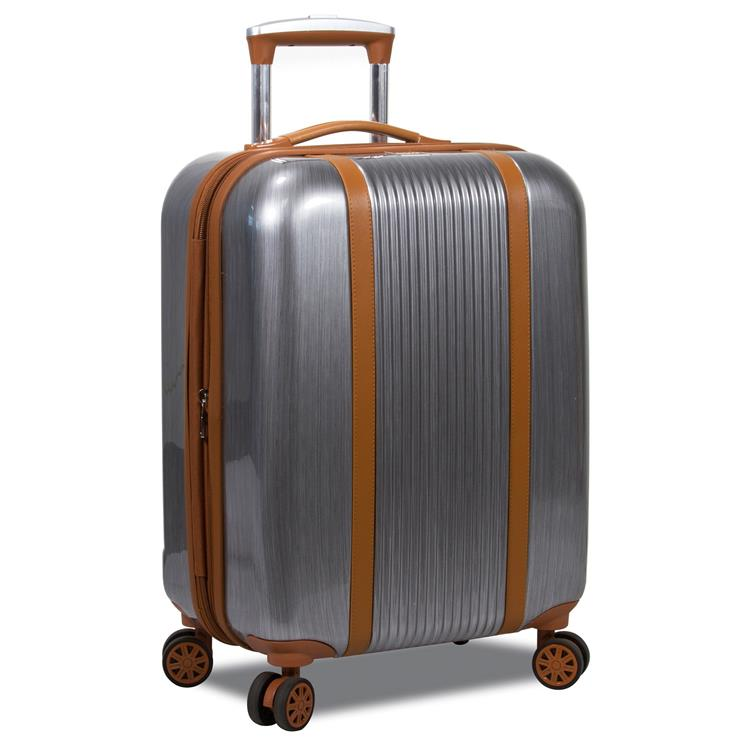 World Traveler Classique Hardside 20-Inch Carry-On Spinner Luggage - Silver