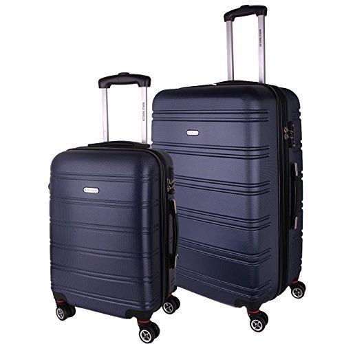 World Traveler Bristol II Hardside 2-Piece Spinner Luggage Set - Blue