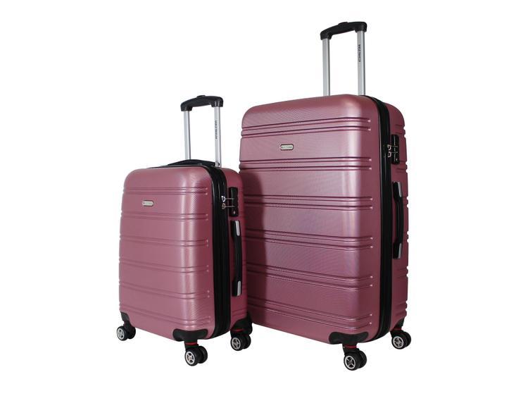 World Traveler Bristol II Hardside 2-Piece Spinner Luggage Set - Rose Gold
