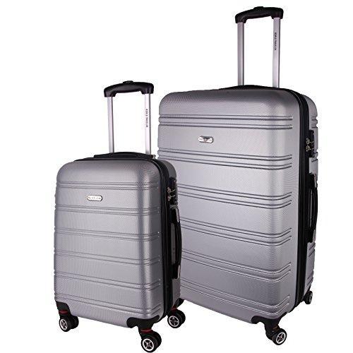 World Traveler Bristol II Hardside 2-Piece Spinner Luggage Set - Silver