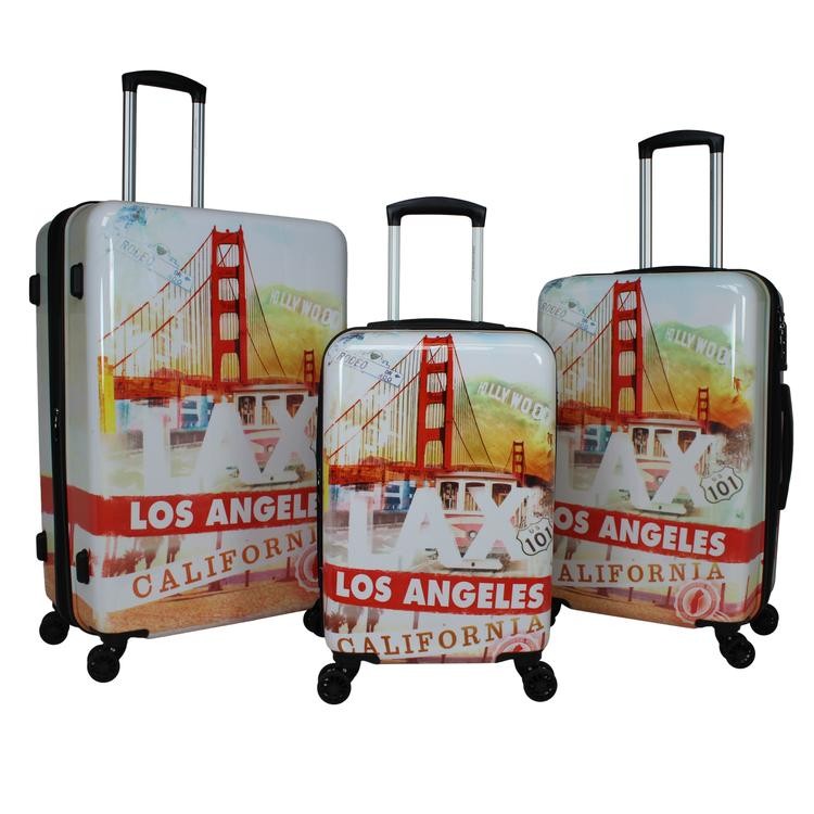 World Traveler Destinations 3-Piece Hardside Spinner - California