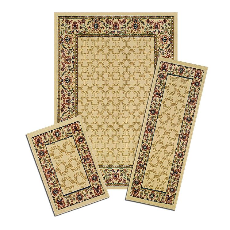 Capri 3 Piece Rug Set-Golden Lattice