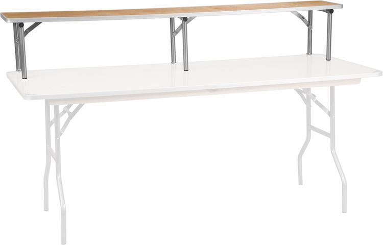 Birchwood Bar Top Riser With Silver Legs