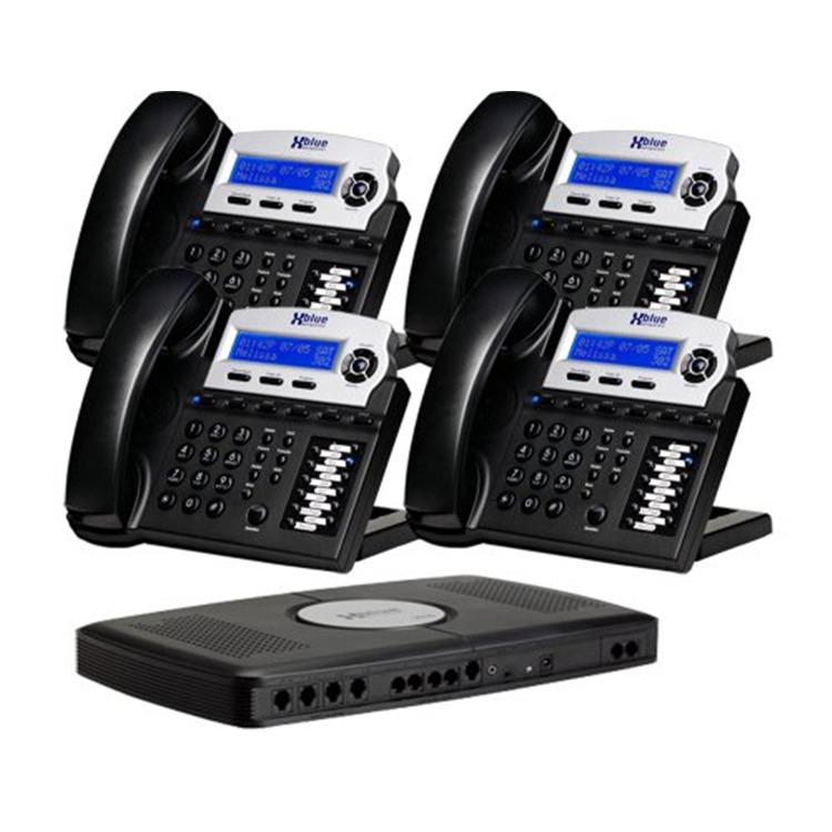 XBlue Phone System Bundle with (4) Phone