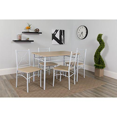 Flash Furniture Sutton Place 5 Piece Natural Finish Dinette Set with Chairs