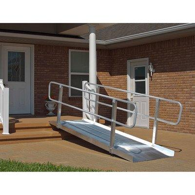 10-ft x 36-in Solid with Handrails Wheelchair Ramp 850 lb. Weight Capacity, Maximum 20-in Rise