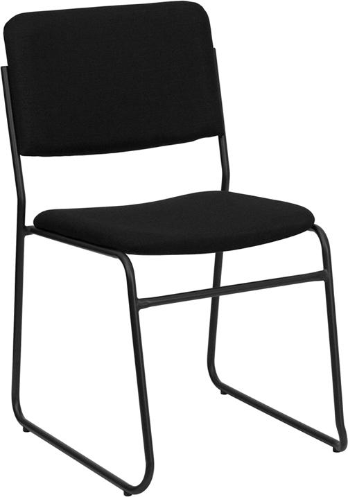 Flash Furniture Hercules Series 1000 Lb. Capacity Fabric High Density Stacking Chair With Sled Base