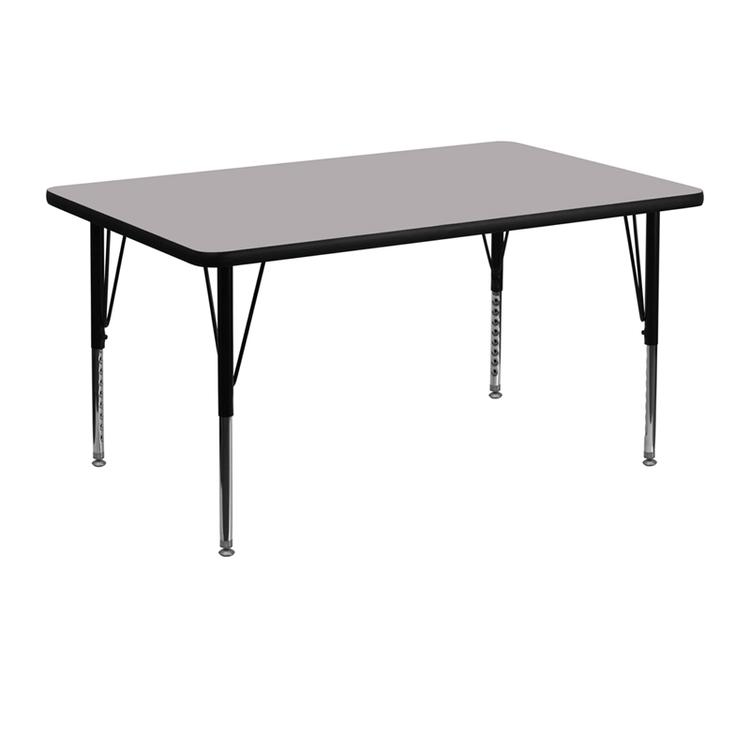 Rectangular Thermal Activity Table - Height Adjustable Short Legs