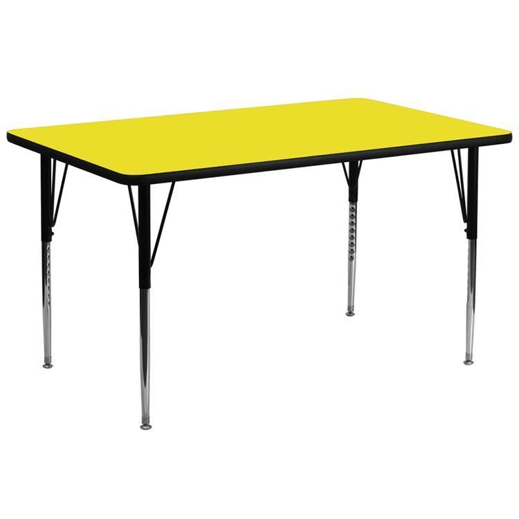 Rectangular Hp Laminate Activity Table - Standard Height Adjustable Legs