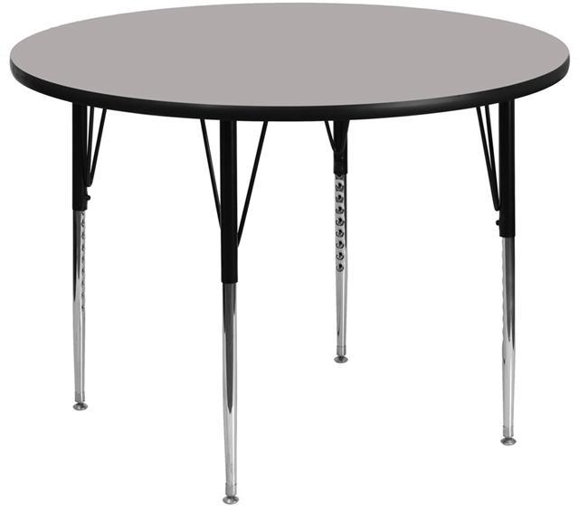 Round Hp Activity Table - Standard Height Adjustable Legs