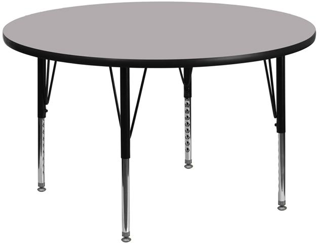 Round Thermal Activity Table - Height Adjustable Short Legs