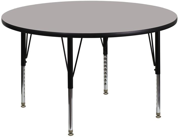 Round Hp Activity Table - Height Adjustable Short Legs