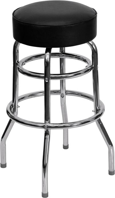 Double Ring Barstool With Seat