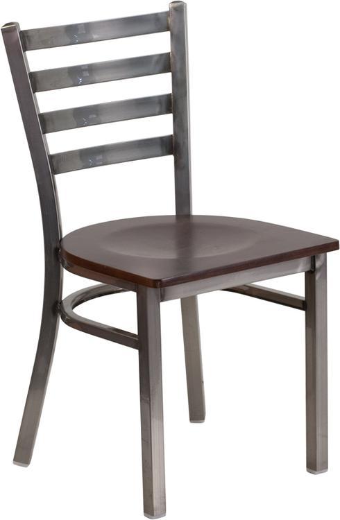 Hercules Series Clear Ladder Back Restaurant Chair - Seat