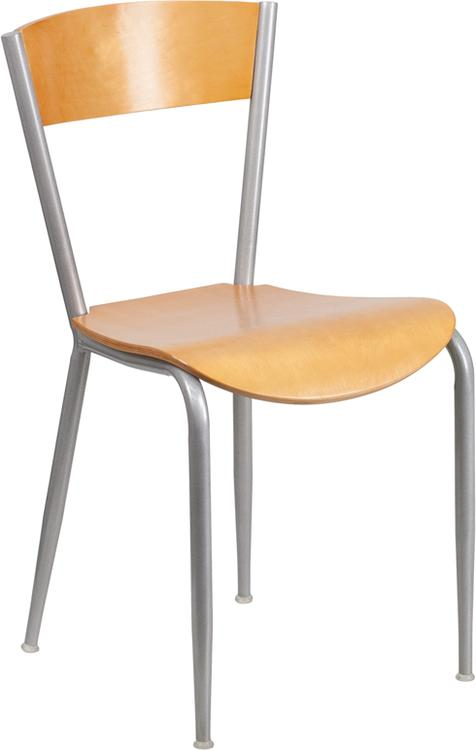 Invincible Series Metal Restaurant Chair - Back & Seat