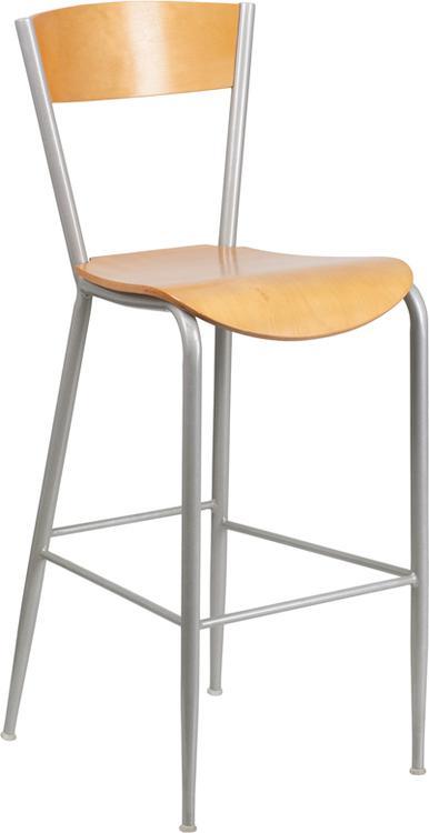 Flash Furniture Invincible Series Metal Restaurant Barstool - Back & Seat