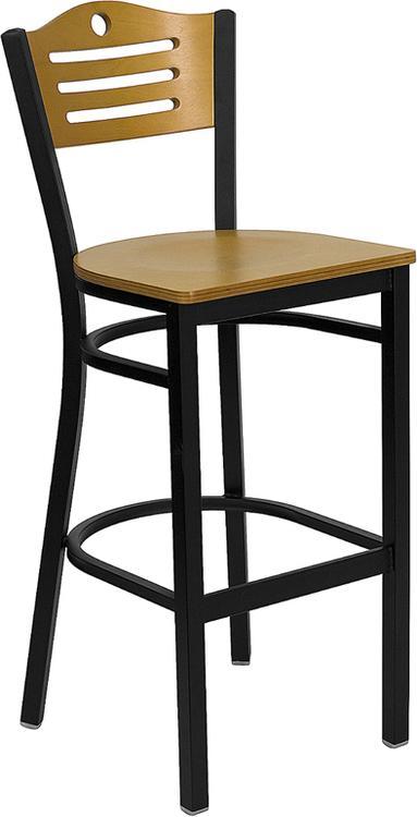 Flash Furniture Hercules Series Slat Back Restaurant Barstool - Back & Seat
