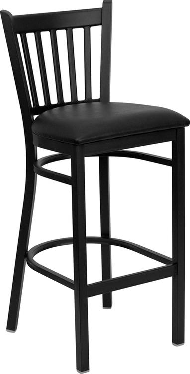 Hercules Series Vertical Back Restaurant Barstool - Seat
