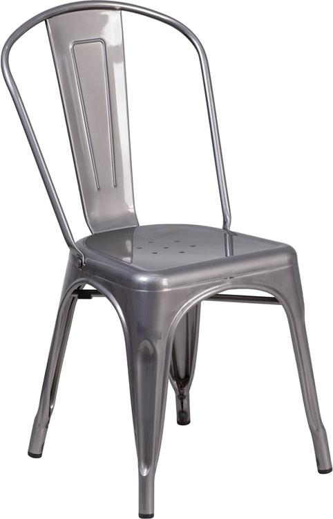 Metal Indoor Stackable Chair
