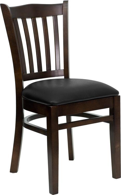 Hercules Series Vertical Slat Back Restaurant Chair - Seat