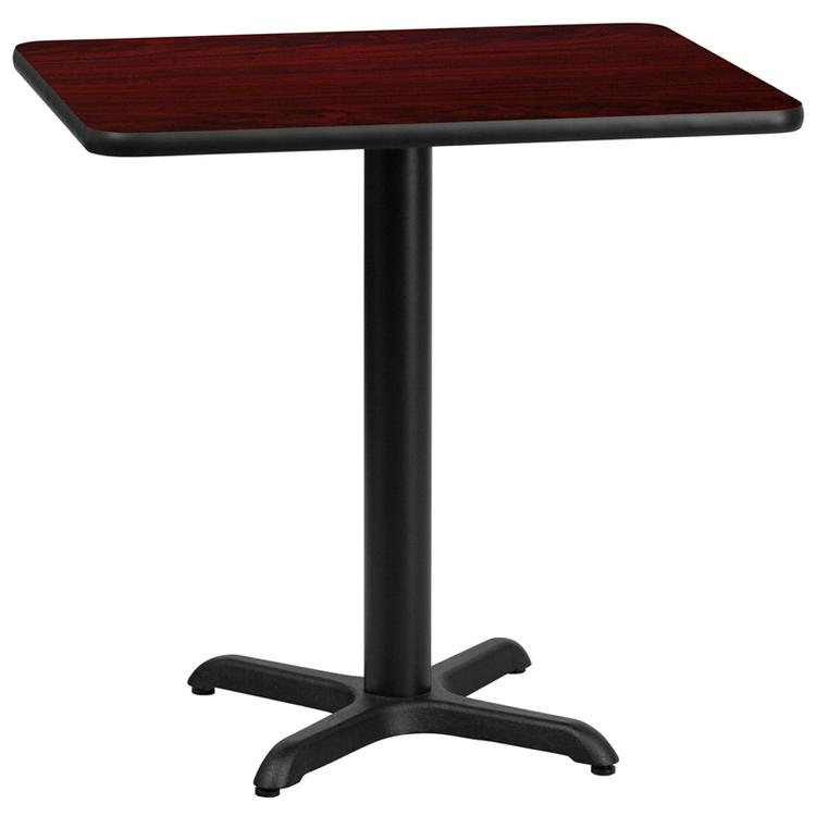 Rectangular Table Top With Table Height Base