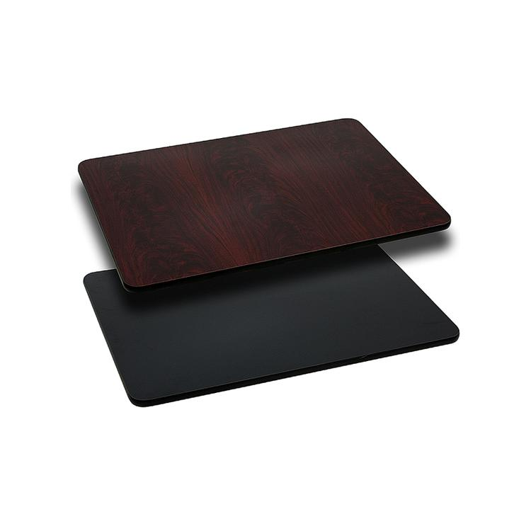 Flash Furniture Rectangular Table Top with Black or Mahogany Reversible Laminate Top (Top Only)