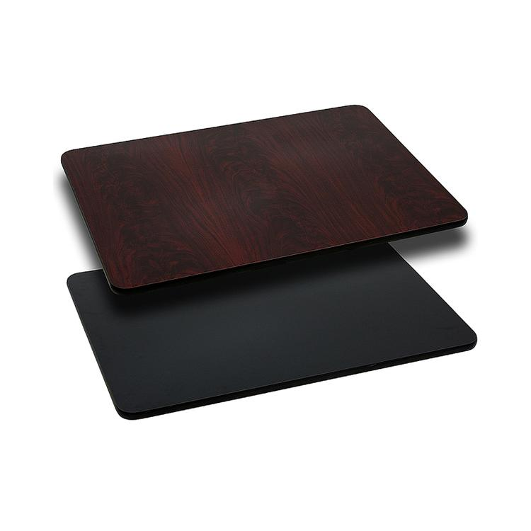 Rectangular Table Top with Black or Mahogany Reversible Laminate Top (Top Only)