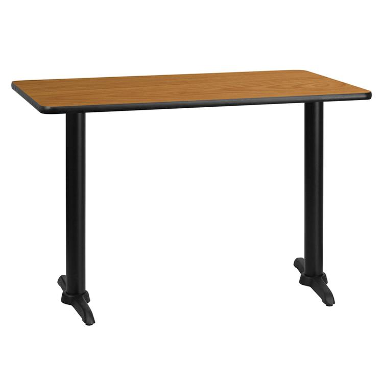 Rectangular Table Top With Table Height Bases