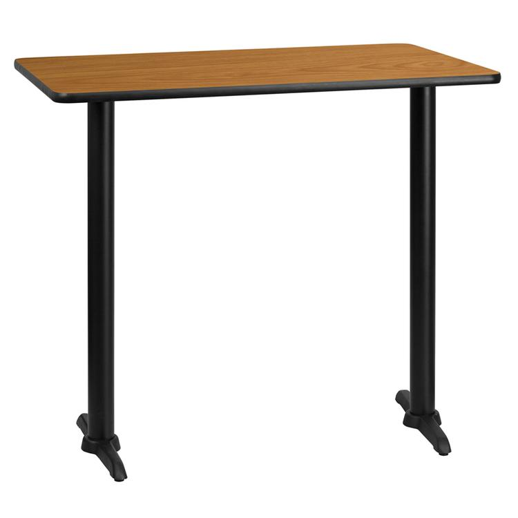 Rectangular Table Top With Bar Height Table Bases