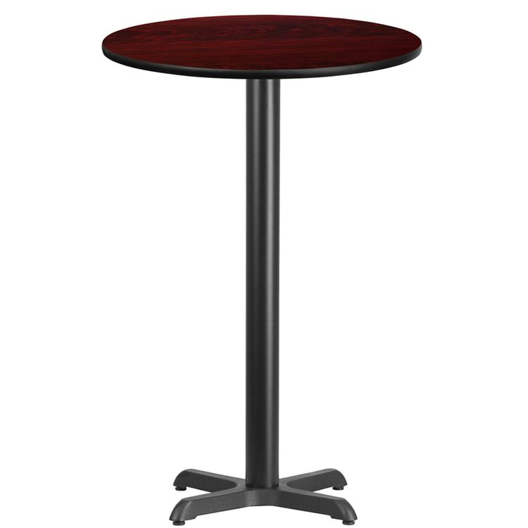 Round Table Top With Bar Height Table Base
