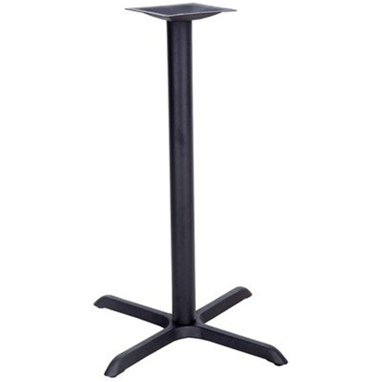 22'' x 30'' Restaurant Table X-Base with 3'' Dia. Column (Base Only)