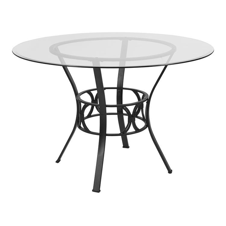 Flash Furniture Carlisle 45'' Round Glass Dining Table